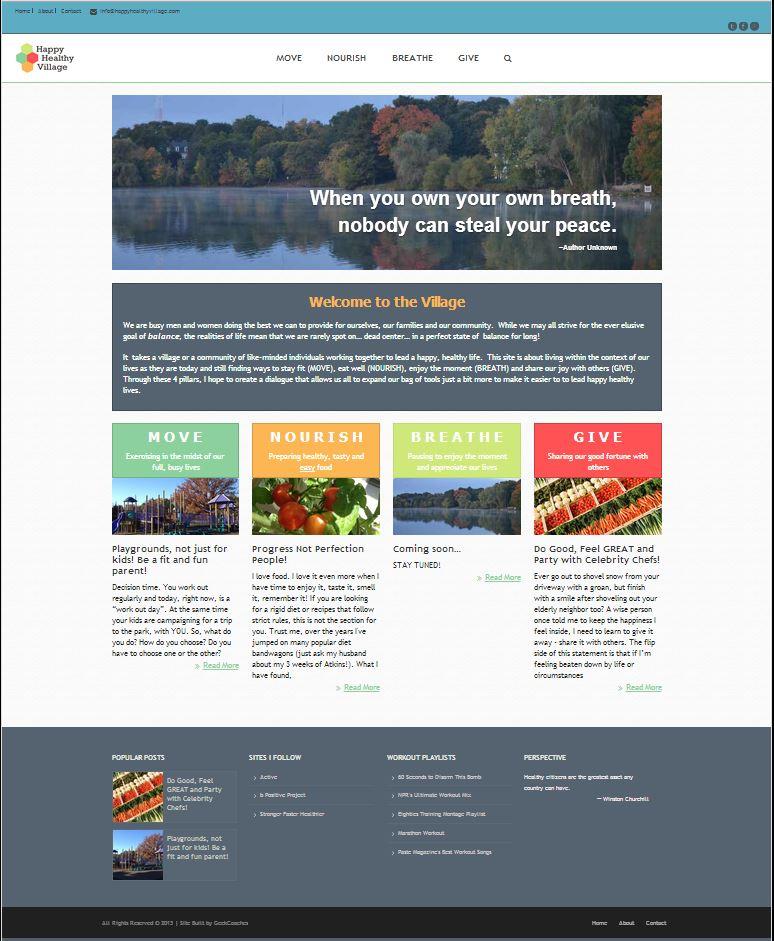 Happy Healthy Village Website