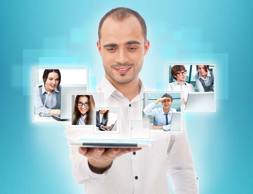 Man with Digital Team