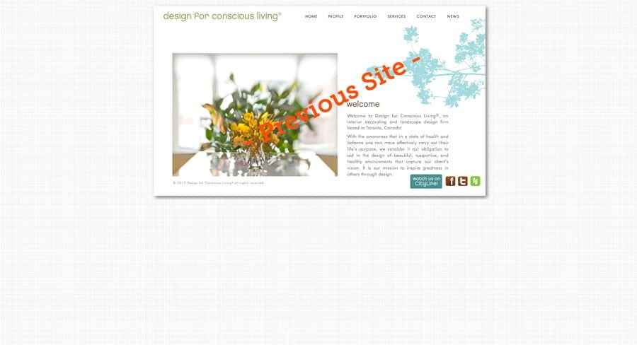 Design for Conscious Living - Old Site