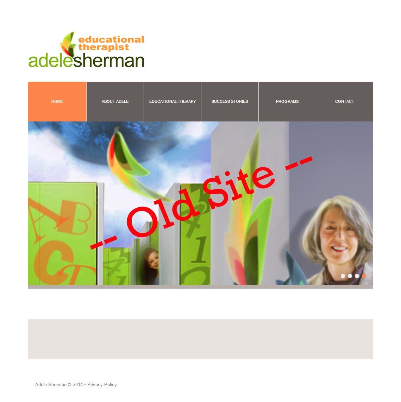 Adele Sherman - Old Website Homepage