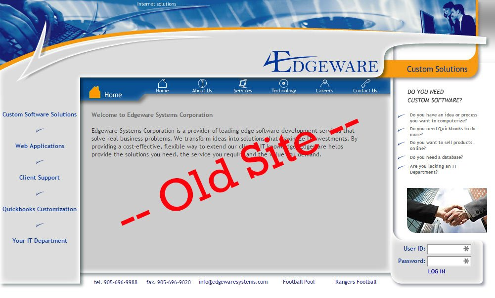 Edgeware Systems - Old Website